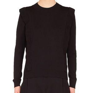 Akris Punto Ruffle Detail Black Sweater (NWT)